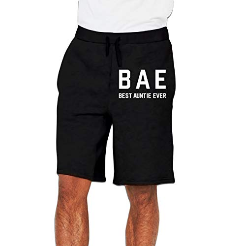 Bae Best Aunt Ever Mens Cotton Classic Fit Golf Jersey Cargo Shorts Black