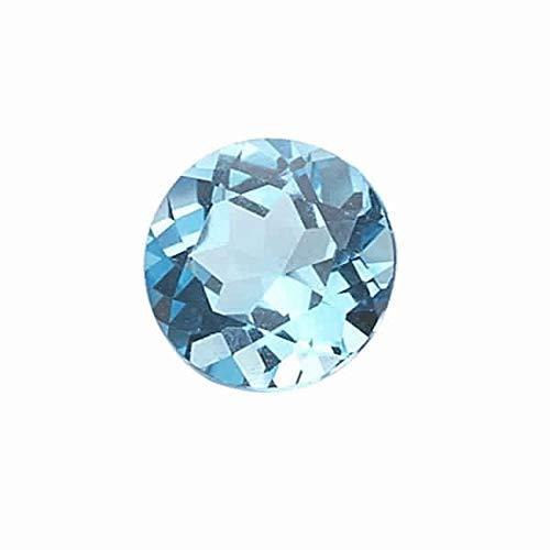 Instagem 1.40-1.65 Cts of 7x7 mm AA Round (1 pc) Loose Swiss Blue Topaz Gemstone