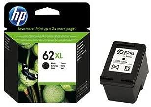 HP 62XL C2P05AE Cartouche d'Encre Grande Capacité Authentique pour Imprimantes HP Envy 5540/5640/7640 Noir