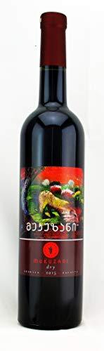 Georgischer Wein MUKUZANI, rot trocken, aus authochtone Rebsorte Saperavi, Appellation Mukuzani, im kaukasischen Eichenfass gereift, 0,75L, Georgien