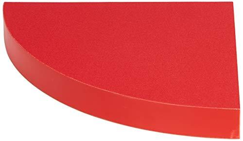 Modul'Home Eckregal, MDF/Spanplatte, rot, 25x25x3,4cm