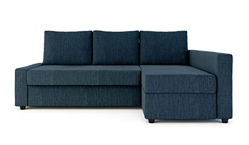 Sung Fit Friheten Slipcover for The IKEA Friheten with Chaise Corner Cover, Sofa Bed Cover, Sectional Slipcover Replacement (Polyester-Navy Blue)