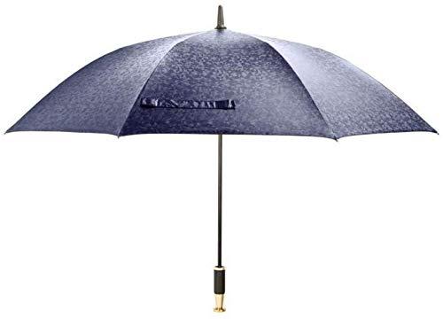 Regenschirme Automatikschirm mit Metall gerader Griff Upscale 27 Zoll 8K Größere Windundurchlässig Männer Regenschirme Regen Qua-Navy_Blue_123 * 90CM lalay ( Color : Navy Blue , Size : 123*90CM )
