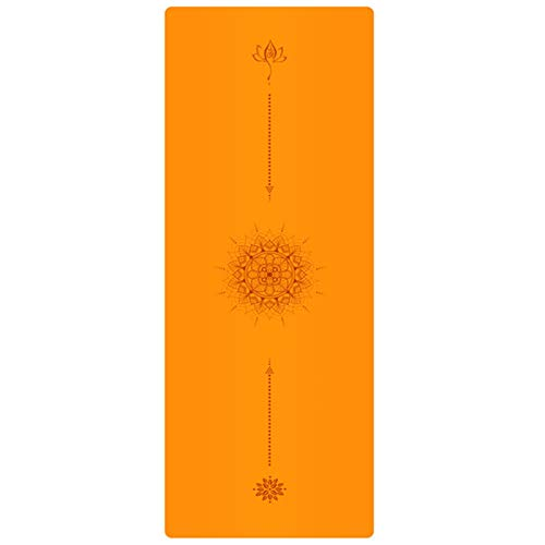 Cómodo de Usar Sports Yoga Mat, New PU Natural Rubber 1.5MM Yoga Mat, with Positioning Line Non-Slip Widened Mat for Yoga Studio Gym Fitness Mat 183 * 68CM For Gymnastics Adecuado para Uso doméstico.