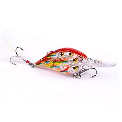 cebo de pesca 1 UNID 8cm 9.4g Group Fish Crankbait Fuerte señuelos Ojos 3D Wobblers Hard Artificial Bait Bajo Pike con regalos de pesca de plumas para hombres Accesorios Mar Tackle señuelos de pesca