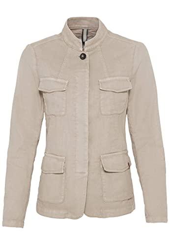 camel active Womenswear Damen 3427155425 Lässiger Blazer, Sand, 36
