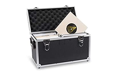 """Acc-Sees Pro Vinyl 45 Carry Case - Vinyl Record Storage Box - Black - Holds 100 x 7"""" Singles – Lightweight and Robust – Fully Lined and Padded Interior"""