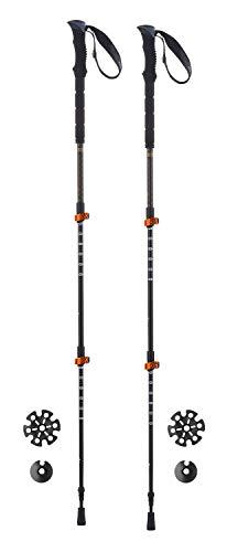 Ferrino 78376HCC Bâtons de Trekking Unisexe, Noir, 60-135 cm