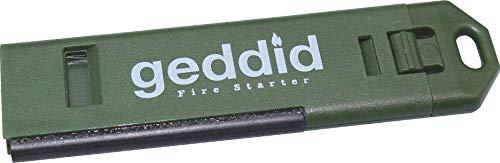 Feuerstarter Schlüsselanhänger mit 120db Notsignalpfeife, Metallschaber und Befestigungsöse für Survival Camping Outdoor - grün/Oliv