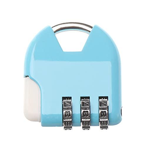 Combinación candado de viaje antirrobo mochila pequeño candado reiniciable combinación de 3 dígitos maleta contraseña código bloqueo