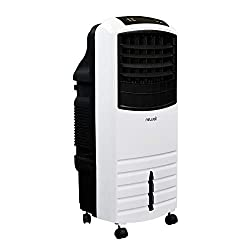in budget affordable NewAir Portable Evaporative Air Cooler, Fan and Humidifier, White Indoor Tower Fan, AF-1000W
