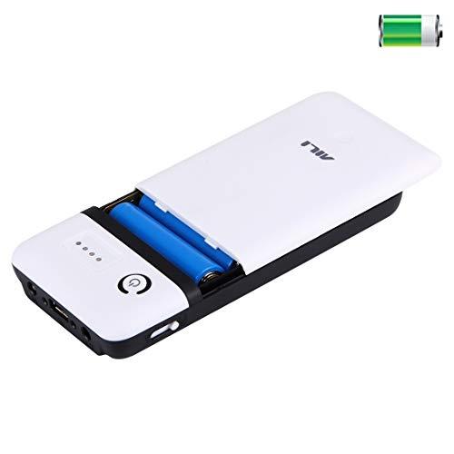 Draagbare 20400 mAh 6 x 18650 batterijen, kunststof behuizing voor powerbank met USB-uitgang en controlelampje voor iPhone, iPad, Samsung, LG, Sony Ericsson, MP4, PSP, camera, batterijen niet inbegrepen. Kleur 1