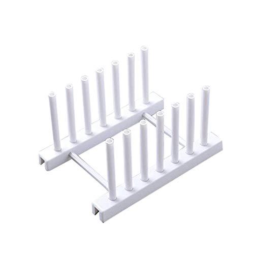 Heritan Kitchen Organizer Pot Lid Rack Dish Rrain Rack Spoon Holder Shelf Cutting Board Rack Pan Cover Stand Kitchen Accessories White