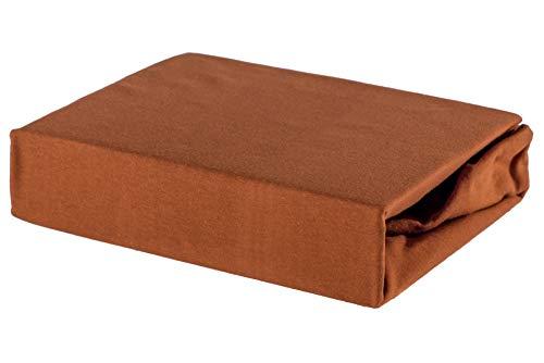 Soft Dream Bettlaken Spannbettlaken - 28 Farben - 100% Baumwolle Jerse (80 x 180 cm, Nuss)