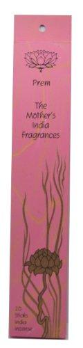 Prem Sweet Jasmine The Mother' s India Fragrances 20bastoncini di incenso di alta qualità a mano incenso Joss Smells Beautiful autonomia: 1–2ore