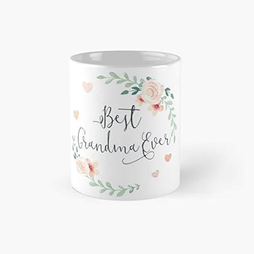 Best Grandma Ever Boho Chic Bohemian Floral Wreath Classic Mug