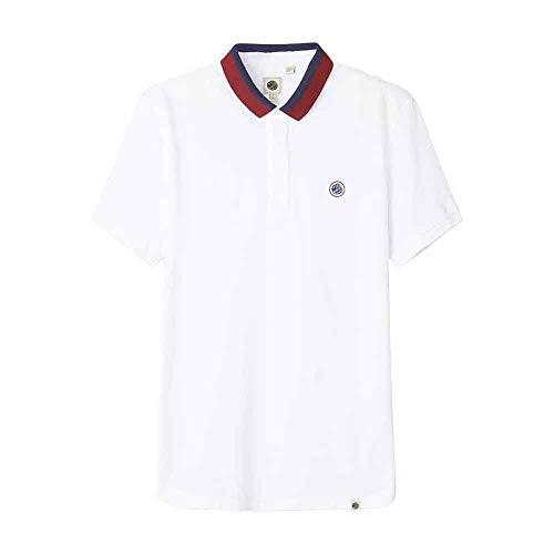 Pretty Green Tilby Contrast Collar Polo Shirt - White-M