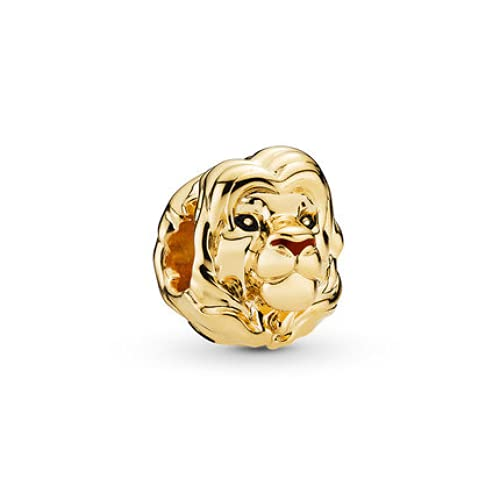 ZHANGCHEN Gold Color The Lion King Simba Beads Fit Original Pandora Charms Bracelets for Women Gift DIY Bijoux Jewelry