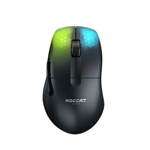 Roccat Kone Pro Air Mouse Senza Fili da Gioco Professionale ergonomico, per PC, Nero