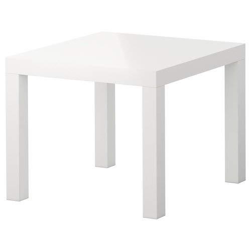 Ikea Beistelltisch, Lack, Hochglanz, Beistelltisch, quadratisch, klein, für Zuhause, Büro, Mehrzweck, Weiß