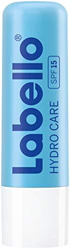 Labello Hydro Care im 1er Pack (1 x 4,8 g), Lippenpflege ohne Mineralöle für trockene Lippen, Lippenpflegestift mit LSF 15 und Sheabutter für pflegenden Lippenschutz