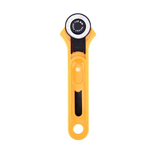28/45 mm Rotary Cutter Patchwork Roller Cutter Wheel Cuchillo redondo Tela Tela Cuero Craft Cutter DIY Arts Crafts Herramienta de costura (Amarillo) ESjasnyfall