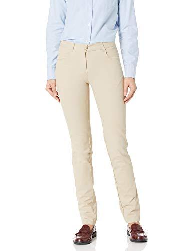 IZOD Junior's Uniform Stretch Twill Skinny Pant, Khaki, 13