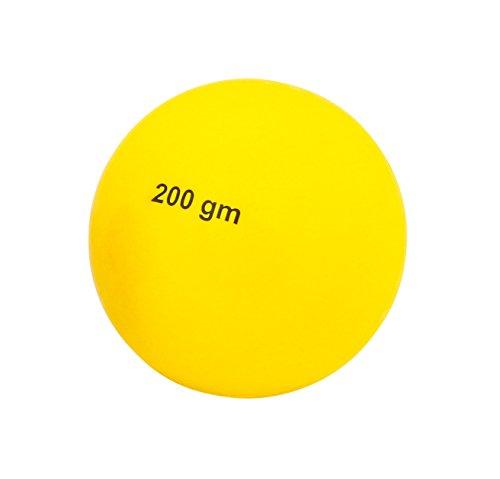 Ballwurf - Der Wettkampf-Wurfball 200 Gramm aus Kunststoff,Gelb
