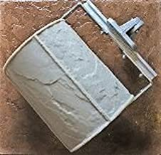 Walttools Concrete Stamp Roller Set for Decorative Borders (Varied Slate Tile) For Stamped Concrete & Overlay - Quick & Easy Way to Stamp Curves & Add Linear Features