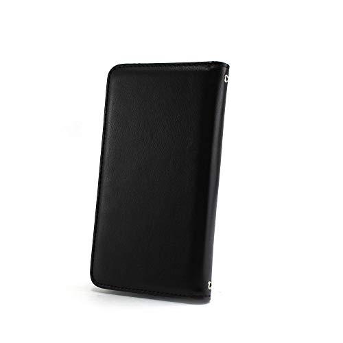 ホワイトナッツ LG Q Stylus LM-Q710XM ケース 手帳型 【左利き】 ベルトなし スタイリッシュ ブラック スマホケース エルジー キュー スタイラス 手帳 カバー スマホカバー WN-OD496169_LL