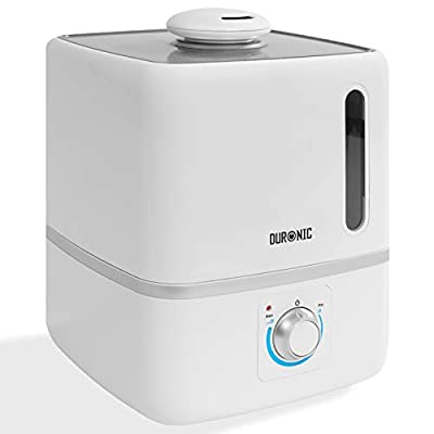 Duronic Humidifier HR3L | Cool Mist | Aromatherapy Essential Oil Diffuser | Large 3L Water Tank | Ultrasonic | Auto Shut-Off Function | For Baby's Bedroom, Sleep Aid, Relieves Cold & Allergy Symptoms