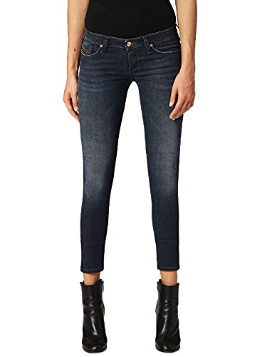 Diesel Skinzee-Low-S 0681G - Jeans elasticizzati da donna, colore: Blu scuro Blu scuro 28W...