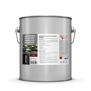 ANTIGOTERAS, aplicación en húmedo, Antihumedad Impermeabilizante Elástico antimoho para aplicar sobre soportes húmedos, secado en 1 Hora, Impermeabilizante terrazas, 4 Litros