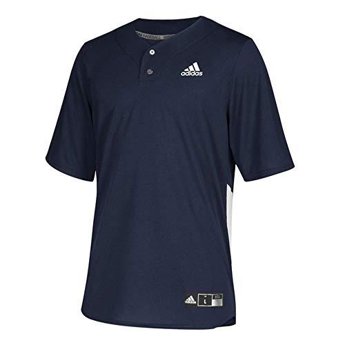 adidas Diamond King Elite 2-Button Jersey - Men's Baseball L Collegiate Navy/White