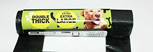 TidyZ Hundekotbeutel, extra stark, 32 x 38 cm, Schwarz, 600 Stück