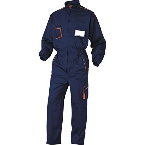 Deltaplus M6COMBMTM Panostyle® Arbeitskombination Aus Polyester Baumwolle, Marineblau-Orange, Größe M