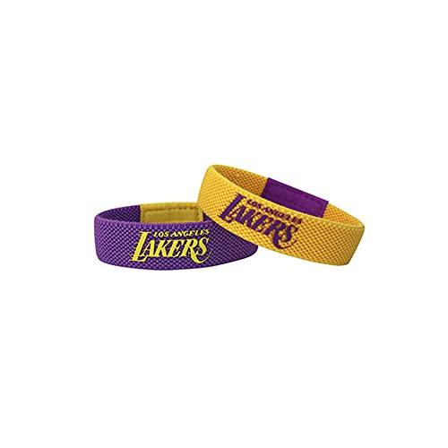 YZDMC Exquisito Lakers 2 Pieza Pulsera de Silicona Estrella de Baloncesto Baloncesto Deportes Pulsera Deportiva Muñequera Tendencia -15235