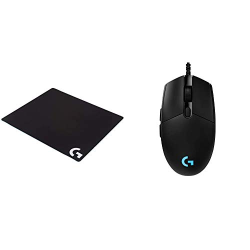Logitech G G640 Large Cloth Gaming Mousepad - Black & G PRO Hero Gaming Mouse - Black