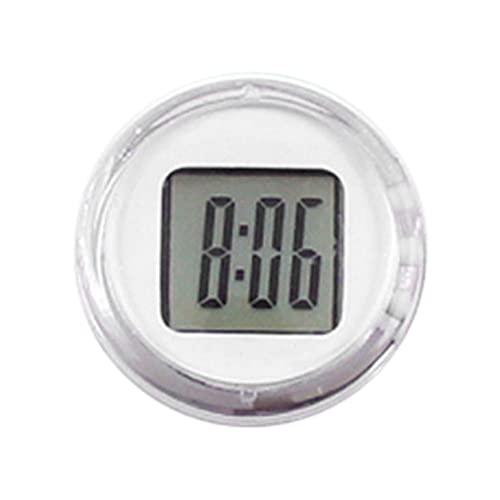 StrongAn Relojes de motocicleta de alta precisión pegados Reloj impermeable Stick-On Moto Mount Watch Moto Reloj digital con cronómetro - Blanco