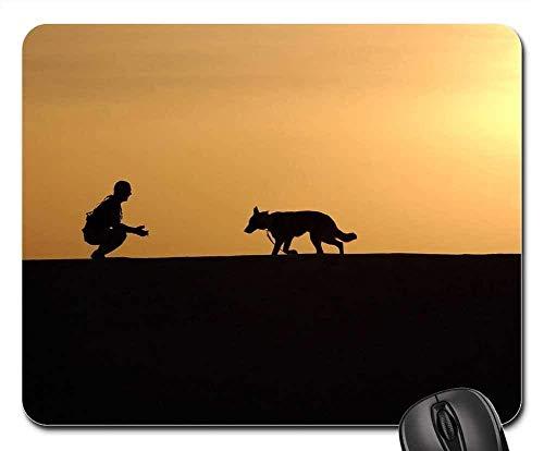Mauspads - Hundetrainer Silhouetten Sunset German Shepherd