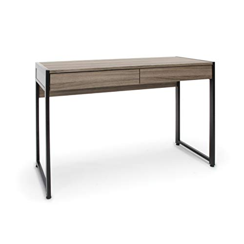 OFM Essentials Collection 2-Drawer Office Desk, in Driftwood (ESS-1002-DWD)