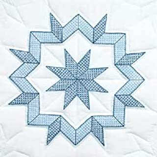 Jack Dempsey Bulk Buy Stamped White Quilt Blocks 18 inch x 18 inch 6 Pack Kaleidoscope Star 732 332 (2-Pack)