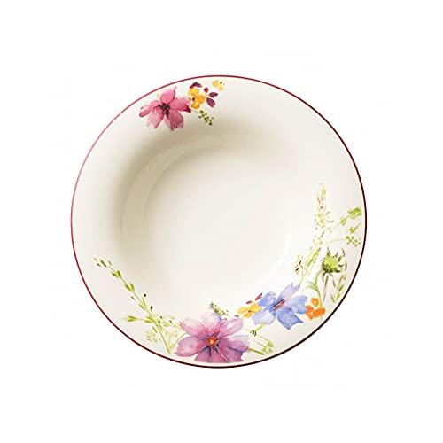 Villeroy & Boch Mariefleur Basic Premium Porcelana, 23cm, 6Platos hondos, Color Blanco, 25x 25x 9.2cm, 6Unidades de Medida