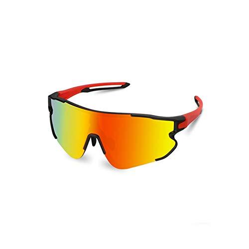 XITANG Gafas de Ciclismo Descoloración Polarizadas Gafas de Sol Antiviento Gafas de Sol de Bicicleta Descoloración Hombres y Mujeres Antiviento Deportes al Aire Libre (1 Unidad)