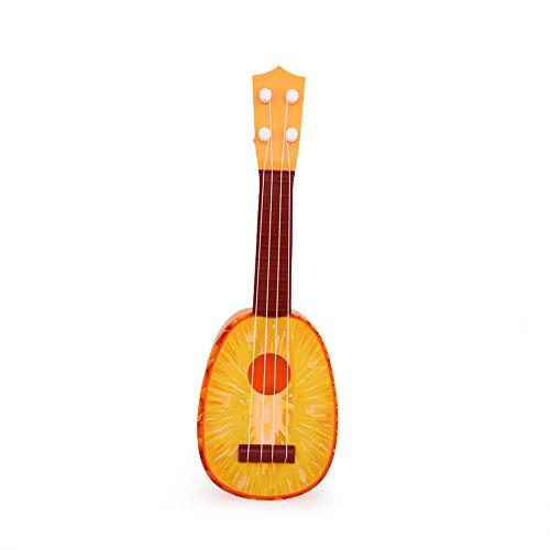 Xinzhi Mini Ukulele, Ukulele Spielzeug süß Obst Gitarre Musik pädagogisches Spielzeug Gitarre Geschenk für Babys, Kinder und Erwachsene - Ananas