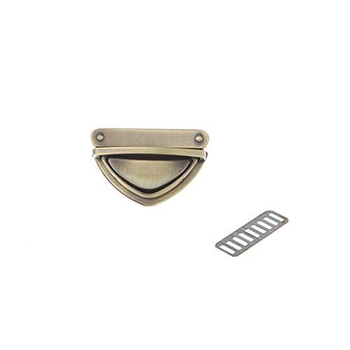 ZZALLL Triangle Shape Clasp Drehverschluss Twist Locks für Handtasche Umhängetasche Geldbörse - Bronze