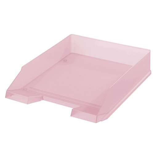 5x Ablagekorb / Briefkorb / Briefablage / transluzent pastell rose