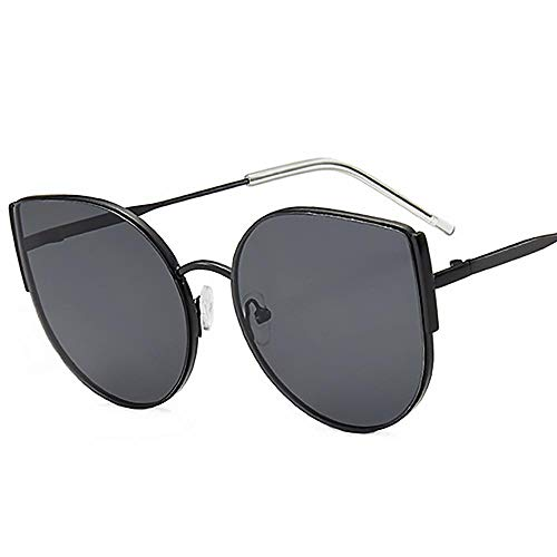 Sonnenbrille Sunglasses Frauen Mode Big Metal Cat Eye Sonnenbrillen Weiblich Männlich Klassisches Design All-Fit Spiegel Shades Für Damen Uv400 Sonnenbrillenmitbag