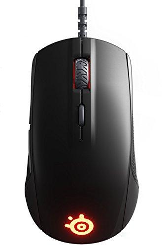 SteelSeries Rival 110, Optische Gaming-Maus, RGB-Beleuchtung, 6 Tasten, Farbe schwarz