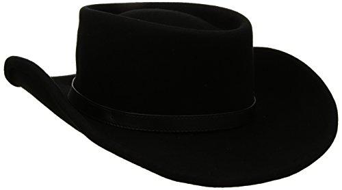 Twister Men's Crushable Gambler Hat, Black, Medium